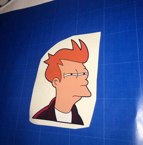 Futurama-style Fry vinyl sticker Shut up and take my money pc//laptop//car decal