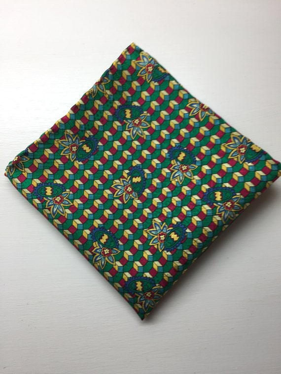 Hand Rolled Hem Mens Silk Pocket Square
