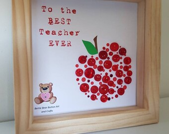 Best teacher ever gift, teacher gift, end of school year teacher gift, school teacher gift, thank you teacher gift, teacher apple gift