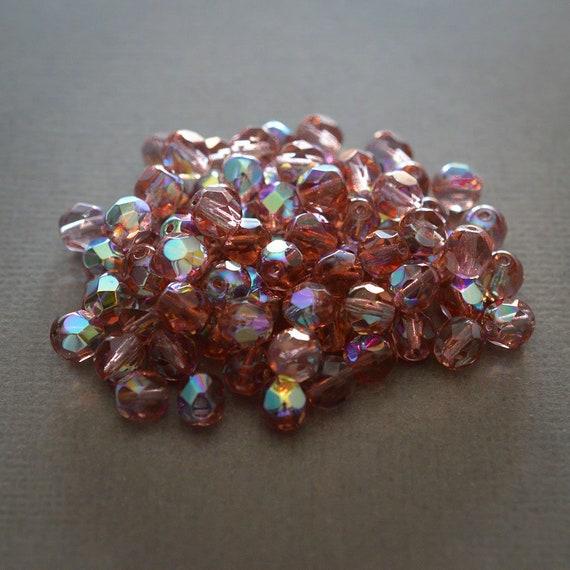 40 Perles métal à Facette 9 mm