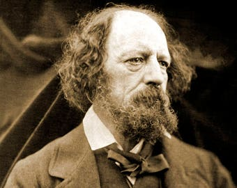 "1865 Poet Alfred, Lord Tennyson Vintage Photograph 8.5"" x 11"" Reprint"