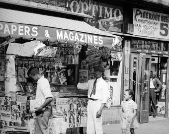 Old newspaper stand