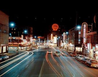 "1950 Jasper Avenue, Edmonton, Alberta, Canada Vintage Photograph 8.5"" x 11"""