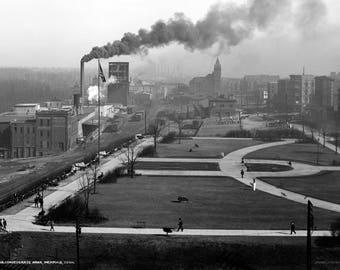 """1900-1910 Confederate Park, Memphis, TN Vintage Photograph 13"""" x 19"""""""