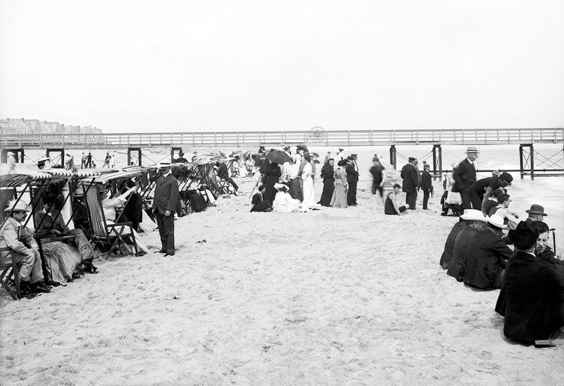 Florida Vintage Photograph Instant Download 00-1910 Palm Beach