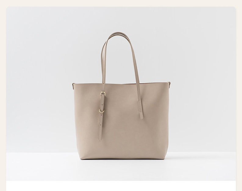 Tote Leather Bag Beige Shoulder Bags for Women Beige Shoulder Bag Shoulder Bag Women Leather Tote Womens Bags Leather tote Bags Women
