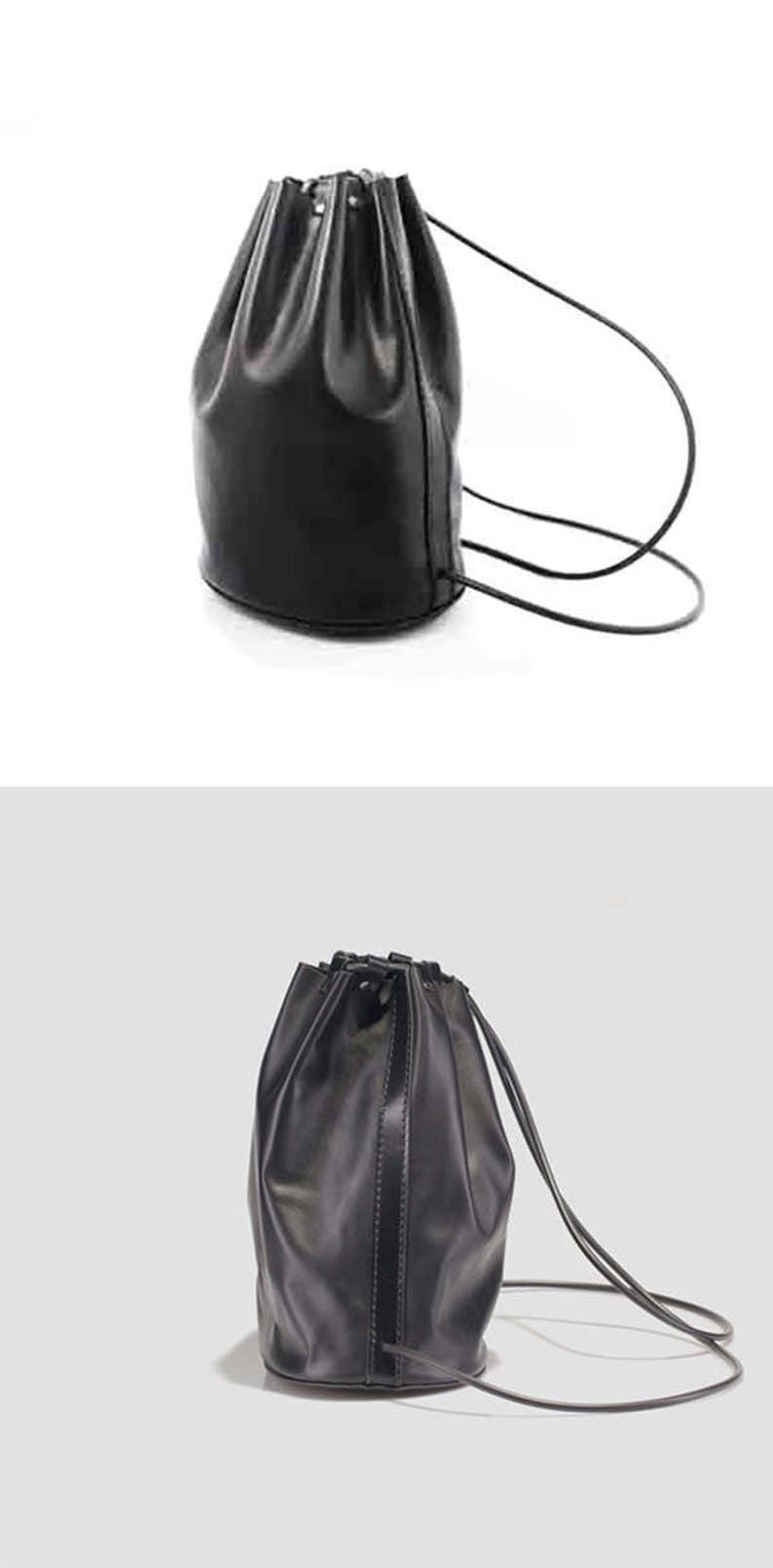 6b86965088f0 Black Leather Backpack Women Leather Shoulder Bag Womens
