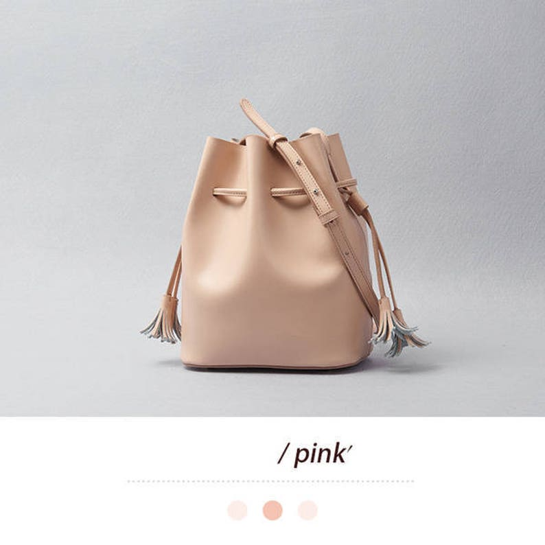 Small bucket bag leather bucket bag purse designer bucket