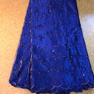 Navy blue beaded lace French lace 5yds
