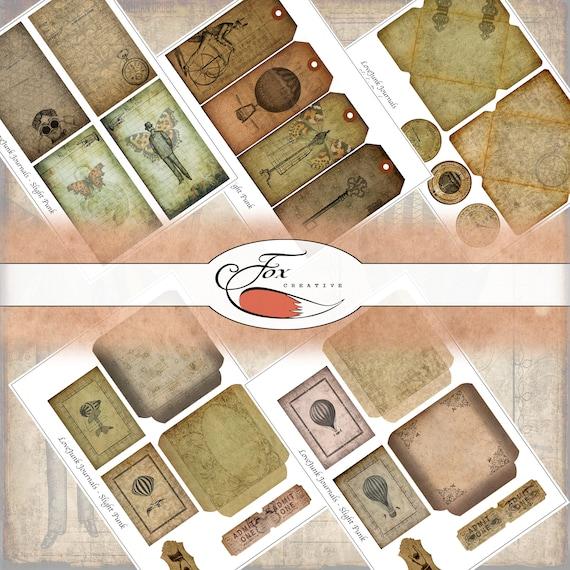 Steampunk Digital Journal Kit. SlightPunk.