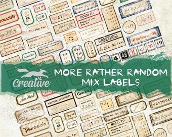 MORE Rather Random Mix Labels Digital Kit. DIGI21 28