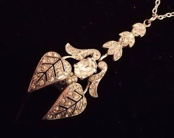 Art deco Pendent, Vintage Necklace, Vintage pendant, art deco style necklace,