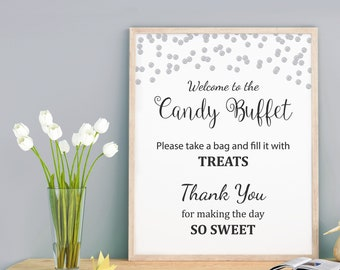 image relating to Free Printable Candy Buffet Signs identified as Sweet buffet signal Etsy