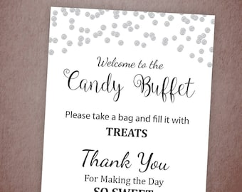 candy buffet sign etsy rh etsy com candy buffet signs for weddings candy buffet signs template free