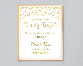 Fantastic Candy Buffet Sign Etsy Home Interior And Landscaping Eliaenasavecom