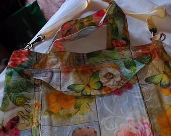Flowers & butterflies lady's tote/shoulder bag