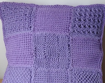 Handmade Patchwork Tunisian Crochet Cushion Cover - *Made to Order*