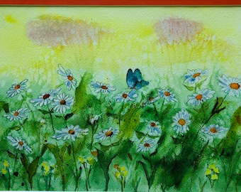 Daisies. Original Water Colors by Artists Jay Wise, M.D