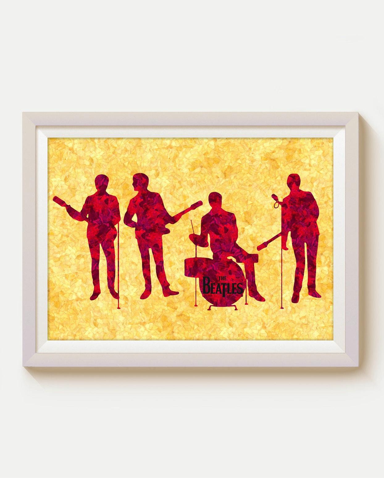 Beatles John Lennon Paul McCartney Beatles Print Rock Music
