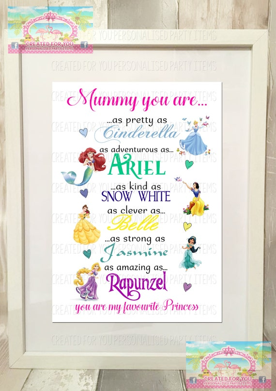 Personalised Mummy you are my Favourite Princess Keyring Keychain