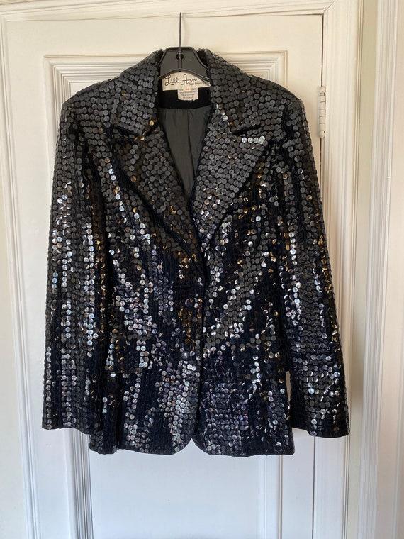 Lilli Ann Vintage Velvet and Sequin Jacket