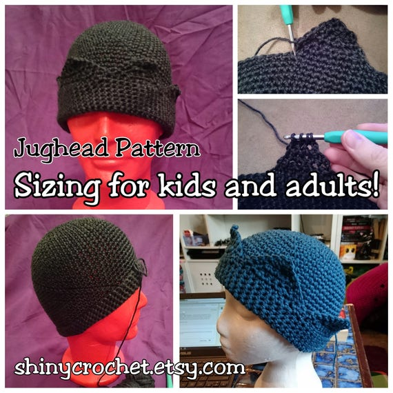 Jughead Hat Crochet Pattern Whoopee Cap Jughead Beanie  72e7be429b6