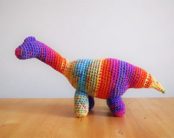 Long Neck Crochet Plushie Pattern, Dinosaur Toy Pattern, Stretch the Brachiosaurus Crochet Plushie