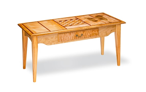 Superb Rectangle Design Coffee Table W Chess Board Gmtry Best Dining Table And Chair Ideas Images Gmtryco
