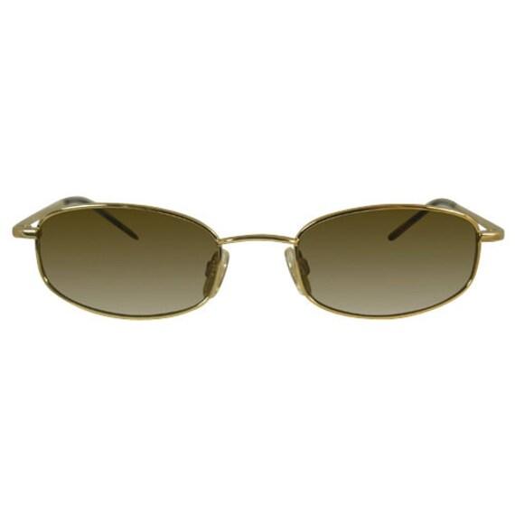 1990's Blue Steel Oval Sunglasses