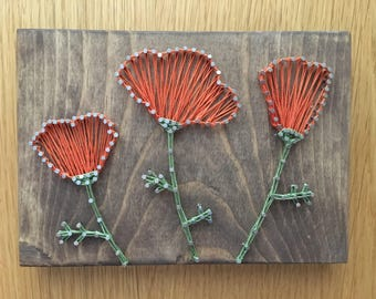 Poppy String Art - free shipping