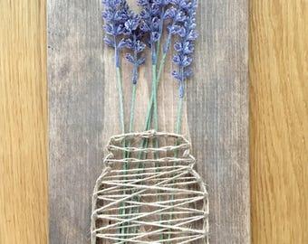 Mason Jar String Art with Lavender