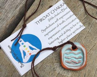 Healing Throat Chakra Pendant Necklace