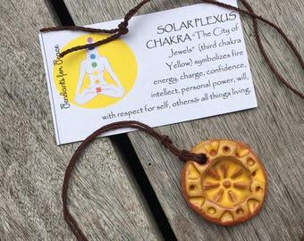 Healing Solar Plexus Chakra Pendant Necklace