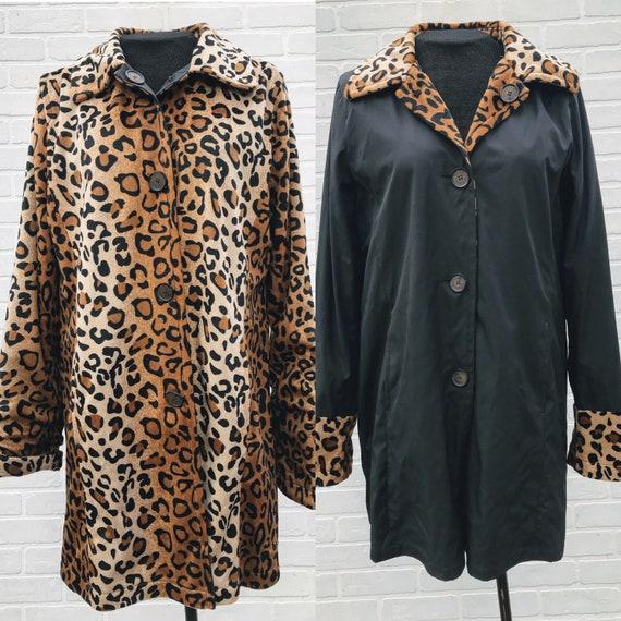Vintage Leopard Print Faux Fur. Reversible Leopard