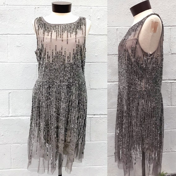 Vintage Adrianna Papell Evening Gown. Sequin Dress