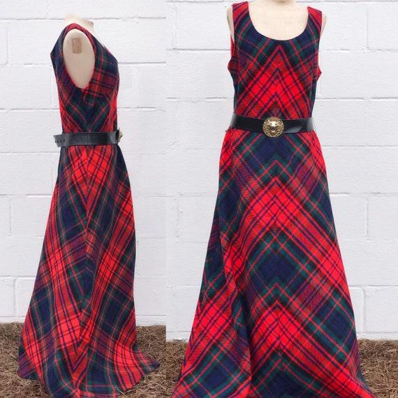 Vintage Plaid Wool Dress.