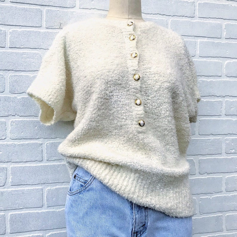 8509f70916290a Vintage button up sweater shirt. Knit top.