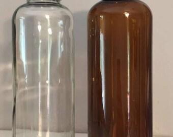 Glass bottles/heart bottom/ 15.2 fluid ounces/450 mL/clean and ready  kombucha bottles/crafts/