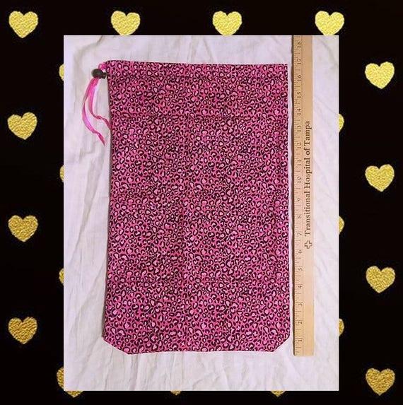 Rose Leopard Print - cordon de serrage – chaussure – Lingerie sac sac-sac de voyage