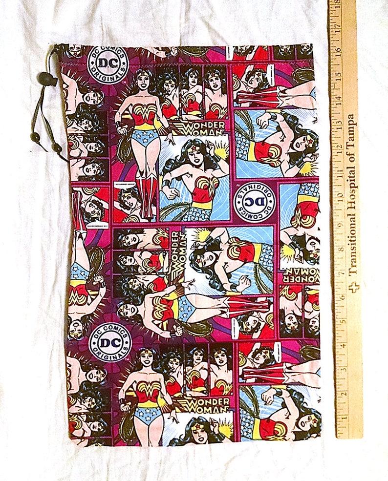 Drawstring Tote Bag \u2013 Shoe Bag \u2013 Lingerie Bag \u2013 Travel Bag Wonder Woman