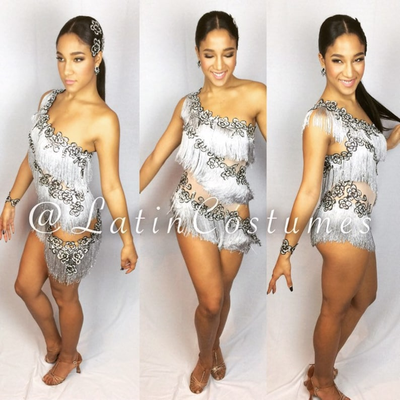 50f4548099c2 Dancesport latin ballroom salsa custom made competition dress | Etsy