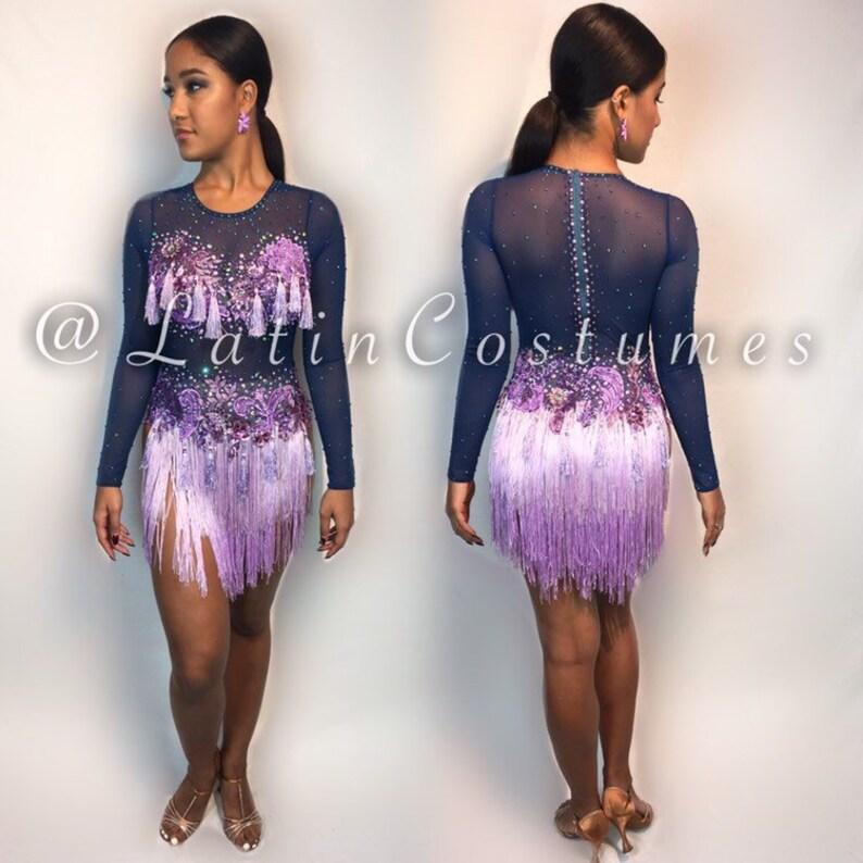 136774766669 Latin Ballroom Dancesport fringe dance costume dress fringe | Etsy