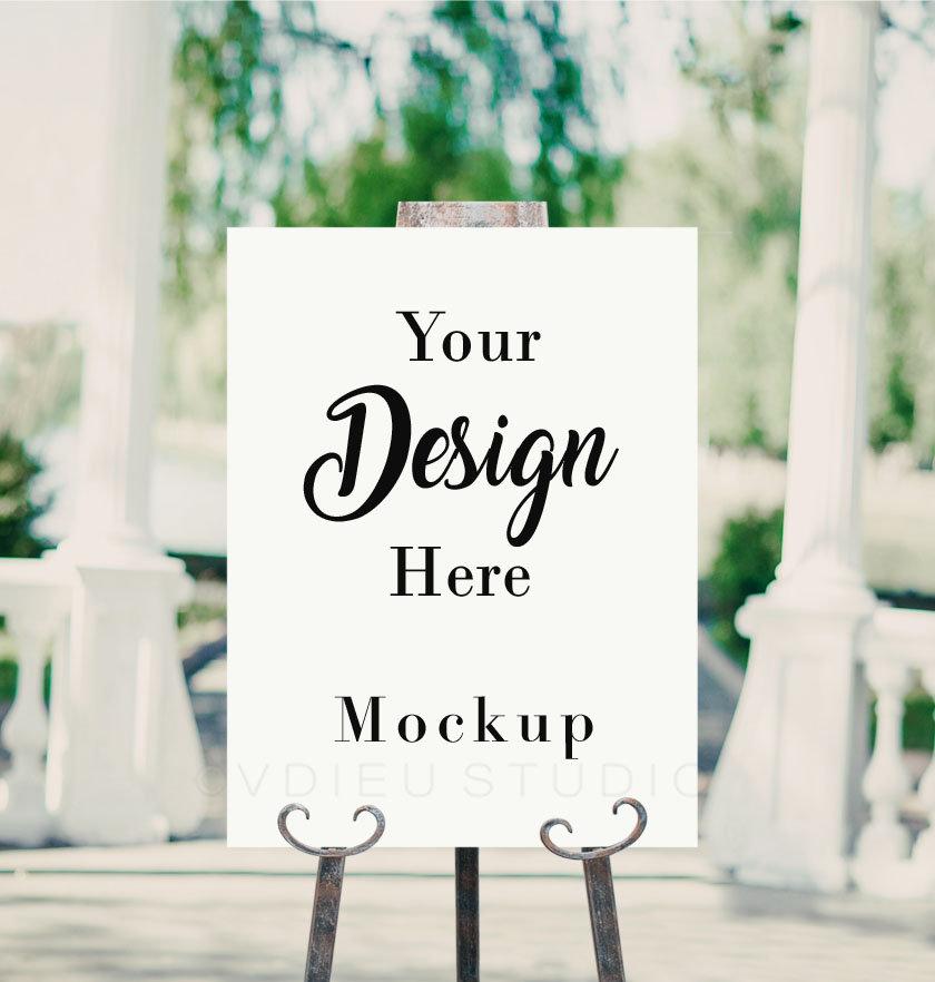 Poster Mockup Wedding Sign Mockup Easel Mockup Easel Etsy