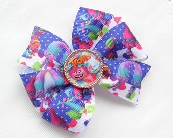 Fairytale Gift Clothing gift Trolls Hair Bows Trolls Party Poppy Bows Trolls Birthday Gift Holiday Gifts Trolls Princess Trolls Headband