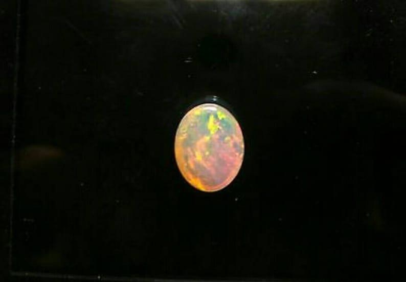 Opal-Natural Ethiopian Opal-Welo Opal-Oval Shape Opal Cabochon-Ethiopian Opal-Opal Cab-Jewelry Supply-Fire Opal-Multifire Opal-Code T52