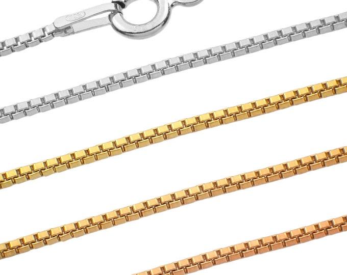 Venetian chains - 925 sterling silver - 40 45 50 55 60 65 70 75 cm - 1.20 mm