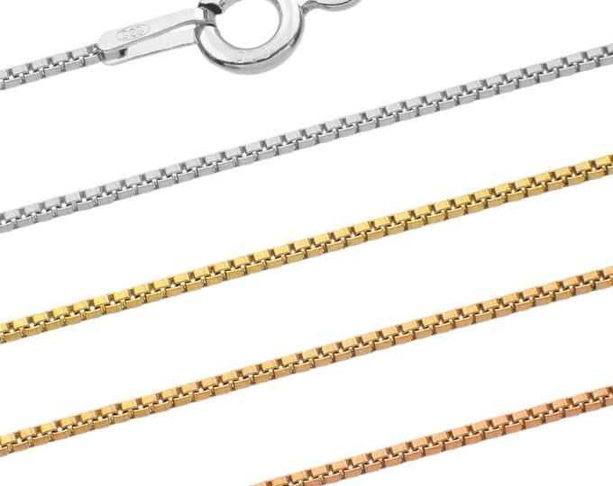 Venetian chains - 925 sterling silver - 40 45 50 55 60 65 70 75 cm - 0.9 mm