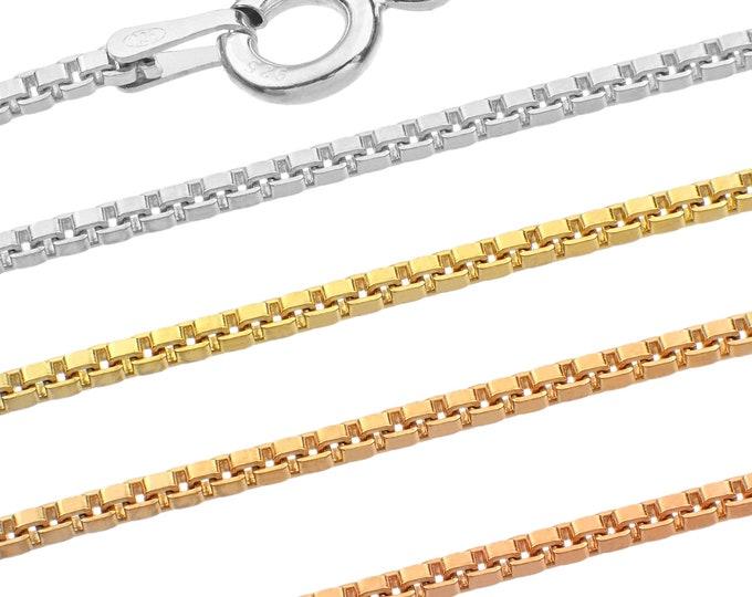 Venetian chains - 925 sterling silver - 40 45 50 55 60 65 70 75 cm - 1.50 mm