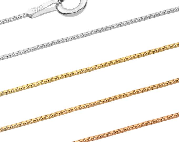 Venetian chains - 925 sterling silver 40 45 50 55 60 65 70 75 cm - 0.6 mm