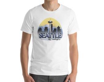 Seattle, Washington Design - Short-Sleeve Unisex T-Shirt